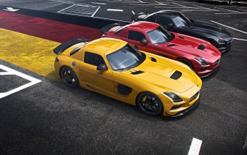 german,supercar,widescreen,black edition,asphalt,yellow,Red,flag