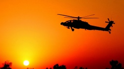 helicopter,Sunset,fighter