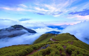 mountain,clouds,fog,taiwan