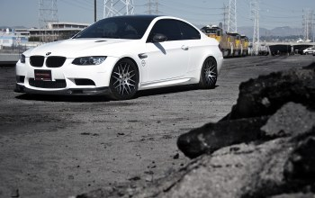 Bmw,wheels,M3,поезд,White,train,желтый