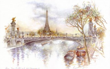 bridge of alexander iii,paris,Эйфелева башня,tour eiffel