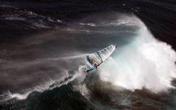 Windsurfing,ocean,wind,water