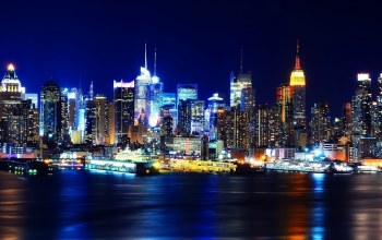 new york,manhatten,ночь