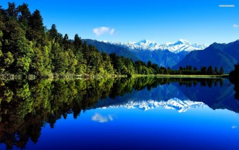 blue,forest,mountain,tree,water,sky,beautiful