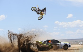 desert,Race,car,jump,bike,dirty,Dust