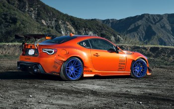 orange,style,rims,86,widebody,wheels,mountain,fr-s,spoilers