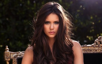 look,brown eyes,Women,nina dobrev,brunettes,hair
