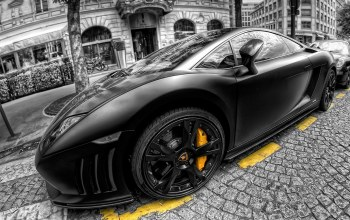 черно - белый,Lamborgini,автомобиль,beautiful,picture,car,wallpapers