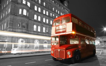 england,lights,street,black and white,london,bus,Road