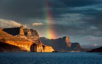 Padre bay,Lake powell,Arizona,водохранилище пауэлл,озеро пауэлл
