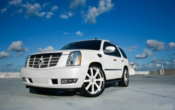sky,White,clouds,cadillac,кадиллак,эскалад,escalade