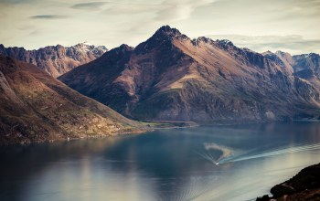lake wakatipu,Queenstown,корабль,new zealand