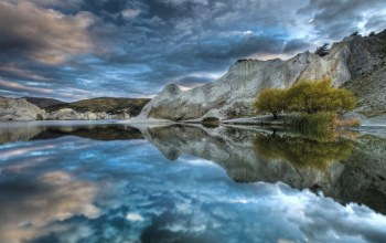 sky,mountain,reflextion,blue,water