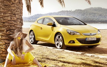 yellow,Opel,gtc,опель,astra,желтый