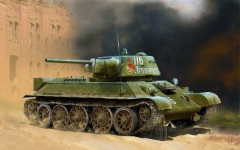 war,T-34/76 (early 1943 production),WWII Soviet Medium Tank,tank,painting