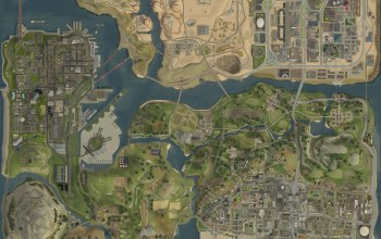 game,GTA San Andreas,карта,map