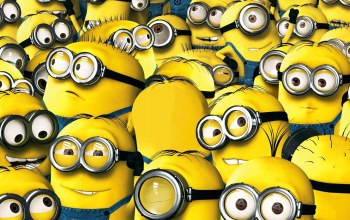yellow,despicablem me 2,staff,universal pictures,cyclops,minion,minions,teeth,suit,...,smile,goggles,employees