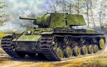 ww2,painting,tank,war,Kliment Voroshilov tank