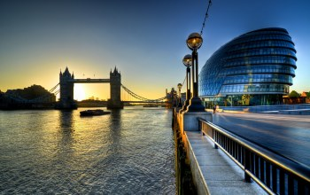 london,City hall,river,england,uk,sunrise,thames,morning,tower bridge