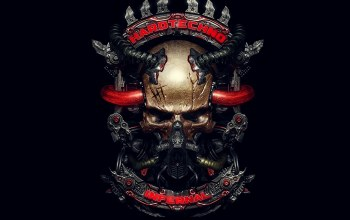 infernal,metallic,Hardtechno,Skull,череп
