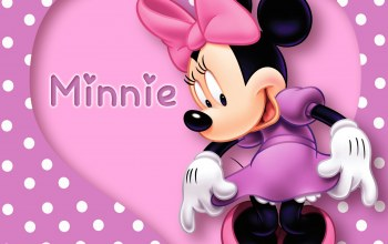 heart,Minnie,Purple,polka dots,cartoon,mouse