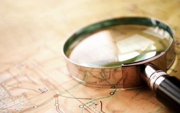 map,Magnifying glass,glass