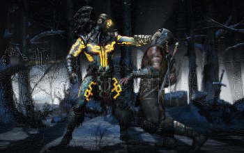 scorpion,snow,...,death,Kotal Kahn,corpse,blood,tree,battle,Mortal kombat,Skull,MK X,sword