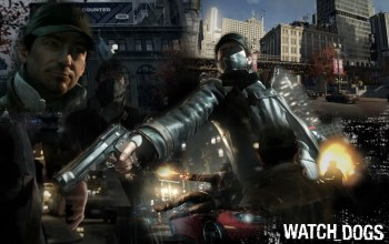 ubisoft montréal,watch dogs,пистолет,Aiden pearce,wallpaper,chicago,сторожевые псы
