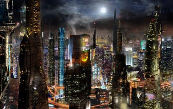 future,...,футуризм,небоскребы,megalopolis,skyscrapers,будущее,fantasy,futurism,buildings,здания,scott richard