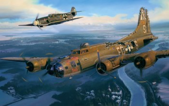 ww2,aviation,Airplane,bf-109,painting,war