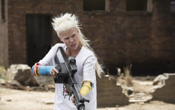 hair,...,Guns,wallpaper,White,eyes,chappie,beautiful,Face,yolandi visser,pictures,sci-fi,blonde,Exclusive,action