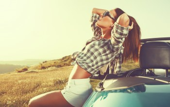 woman,relaxation,car,freedom