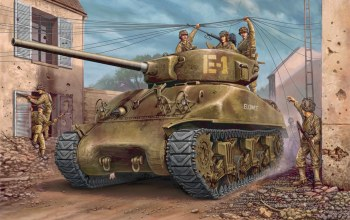 m4a1 Sherman,tank,painting,ww2,war