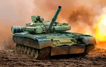 weapon,war,T-80 BV,painting,tank