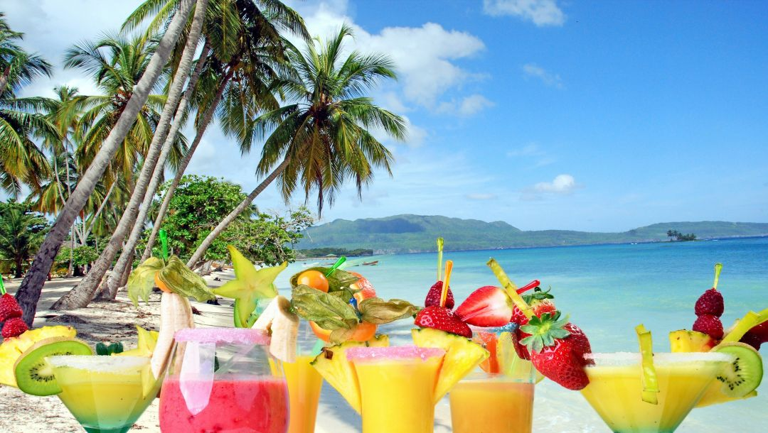 drink,Коктейли,fruit,summer,cocktails,palms,tropical,beach