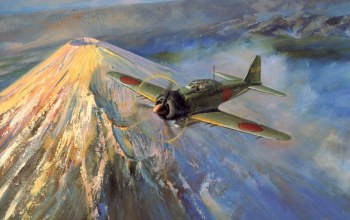 war,painting art,ww2,A6m,japanese aircraft