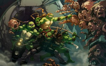 Zombie Apocalypse,Raphael,michelangelo,teenage mutant ninja turtles,tmnt,Shredder
