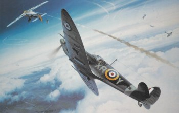 ww2,dogfight,war,spitfire,painting