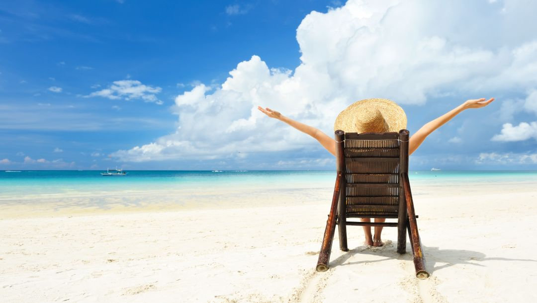 vacation,beach,...,light,summer,water,boat,sand,girl,Hat,beach chairs,situation
