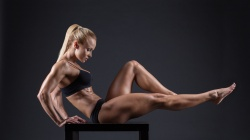 toned body,Fitness,muscles,bodybuilder,pose,blonde,female