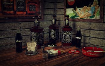 whiskey,lighter,smoking,cigarette,bottles,cadre,jack daniels,ice,Bar,marlboro