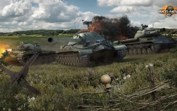 ...,едут,дым,ис-4,World of tanks,ис-7,битва,легенда,мир в танках,земля