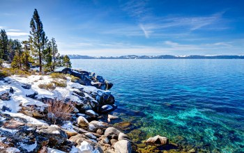 Пейзаж,сша,Lake tahoe,побережье