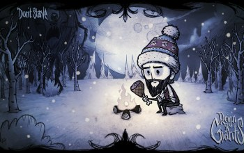 winter,шапка,Wilson,reign of giants,уилсон,Циклоп,мясо,Don't Starve