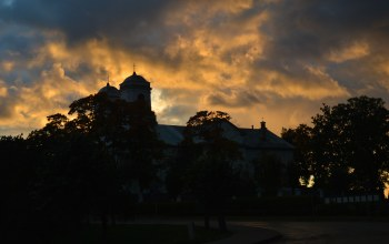 sky,church,sunrise