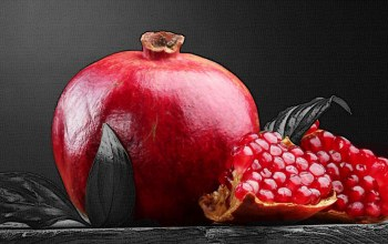 black and white,Red,fruit,pomegranate