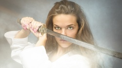 woman,sword,katana,look