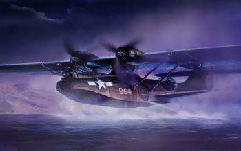 war,Consolidated pby catalina,ww2,painting,aviation