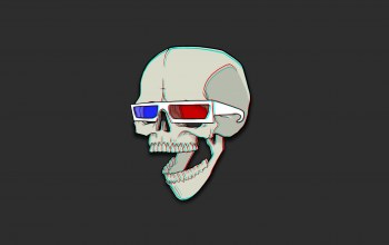 3D Glasses,череп,Antonian Aleksandr,...,Red,Desktop wallpaper,blue,синий,Очки 3D