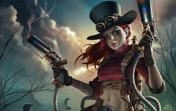 weapons,steampunk,makeup